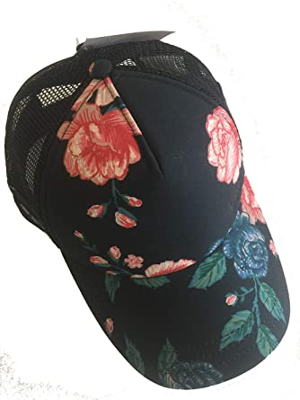 bcfcd00f2d Image Unavailable. Image not available for. Color  Vans Beach Girl Pink Winter  Bloom Floral Snapback Hat Trucker Cap Women s Sport