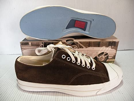 2d0f697af969 CONVERSE JACK PURCELL VINTAGE SUEDE MADE IN USA MEN SHOES BROWN A0542 SIZE  12 NEW
