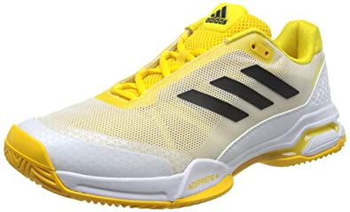 factory authentic dc132 9ddc2 adidas Mens Barricade Club BY1637 Tennis Shoes, Yellow (EqtamaNegbas   Ftwbla)