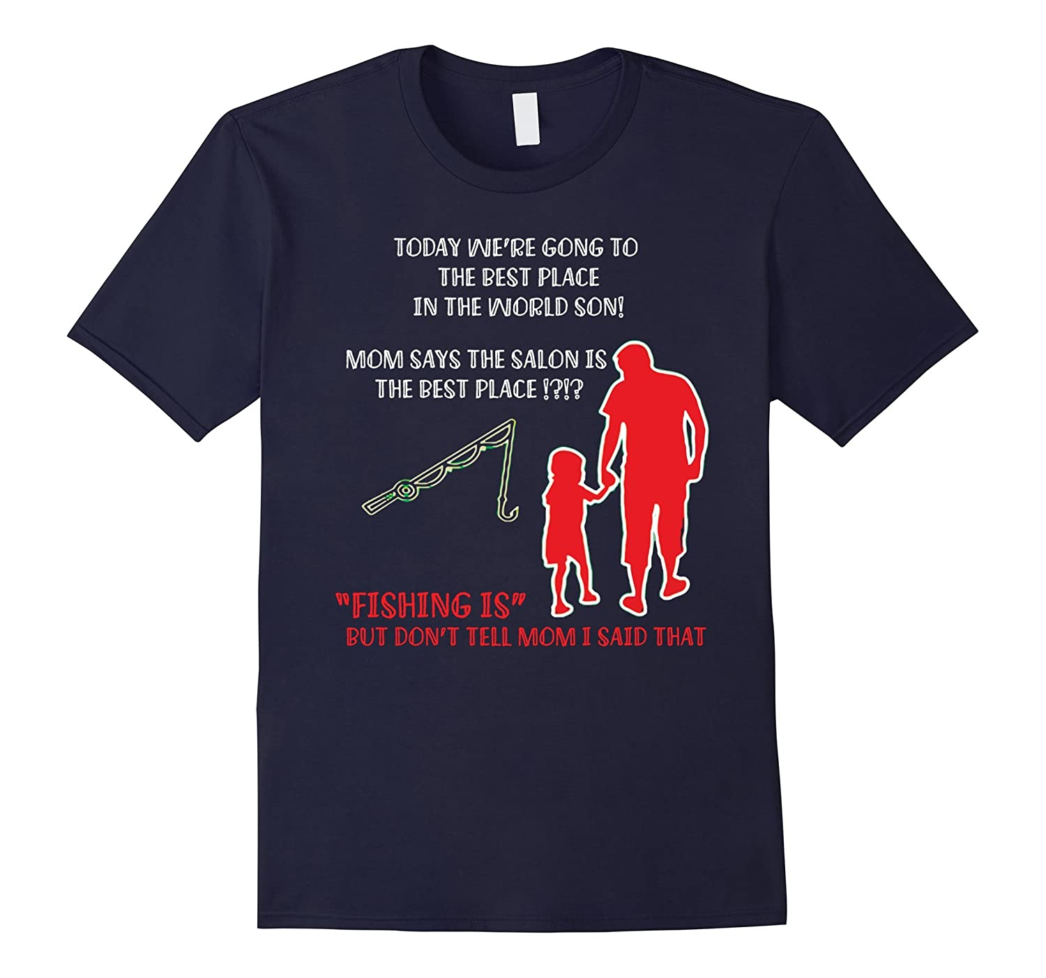 DAD AND SON BEST FRIENDS FOR FISHING LIFE T SHIRT FATHERS DA-CD