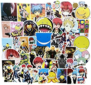 Assassination Classroom Stickers Anime Stickers for Kids and Teens 50Pcs Variety Vinyl Waterproof Motorcycle Luggage Decal Graffiti Skateboard Stickers for Laptop Stickers(Assassination Classroom)
