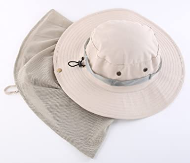 8e6a100c5feaa Connectyle Outdoor Anti-Mosquito Net Jungle Sun Hat with Hidden Neck  Protection from Insect Bug Bee at Amazon Men s Clothing store