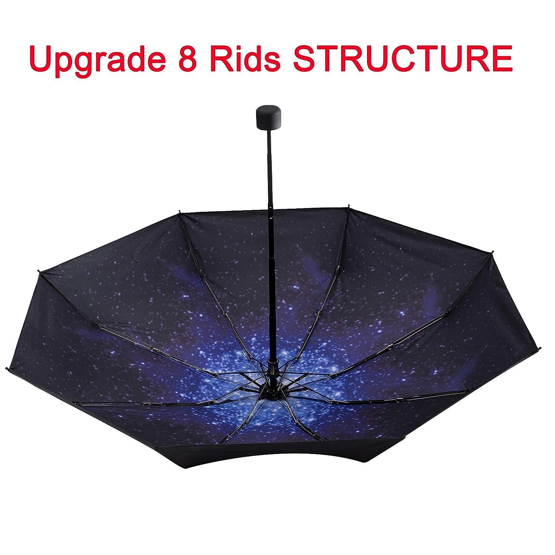 95/% Anti-UV Lightweight Compact Small Folding Sun Umbrellas NOOFORMER Mini Travel Umbrella 8Ribs