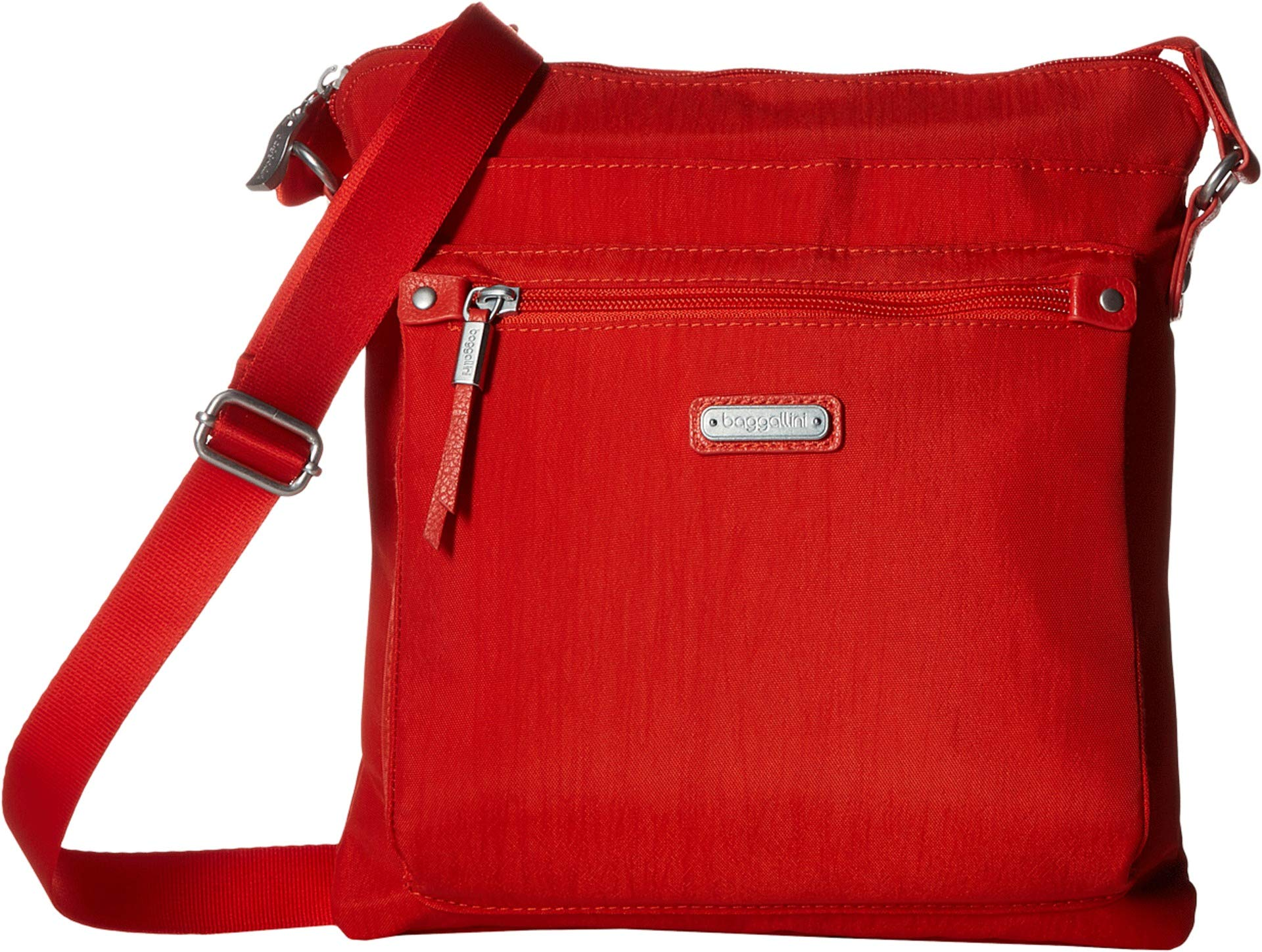 Baggallini Women's New Classic Go Bagg with RFID Phone Wristlet Vibrant Poppy One Size by Baggallini (Image #1)