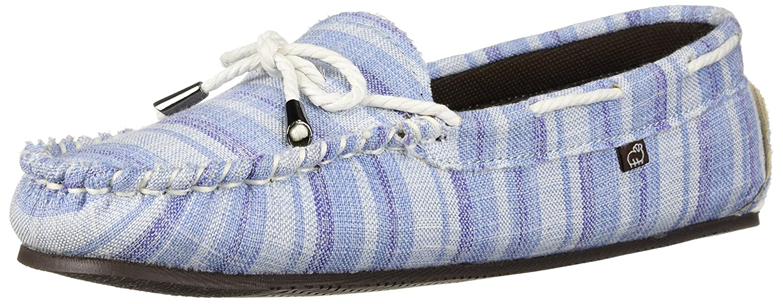Lamo Women's Sabrina Moc II Shoe, Moccasin, Chestnut B0753JCRDB 6 B(M) US|Blue/Purple Stripe