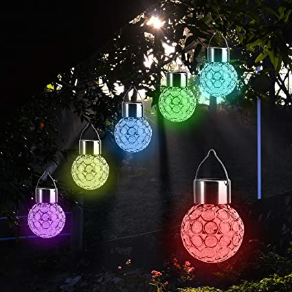 Amazon beinhome solar lights hanging 1 piece outdoor hanging beinhome solar lights hanging 1 piece outdoor hanging decorative globe light auto color changing led aloadofball Gallery