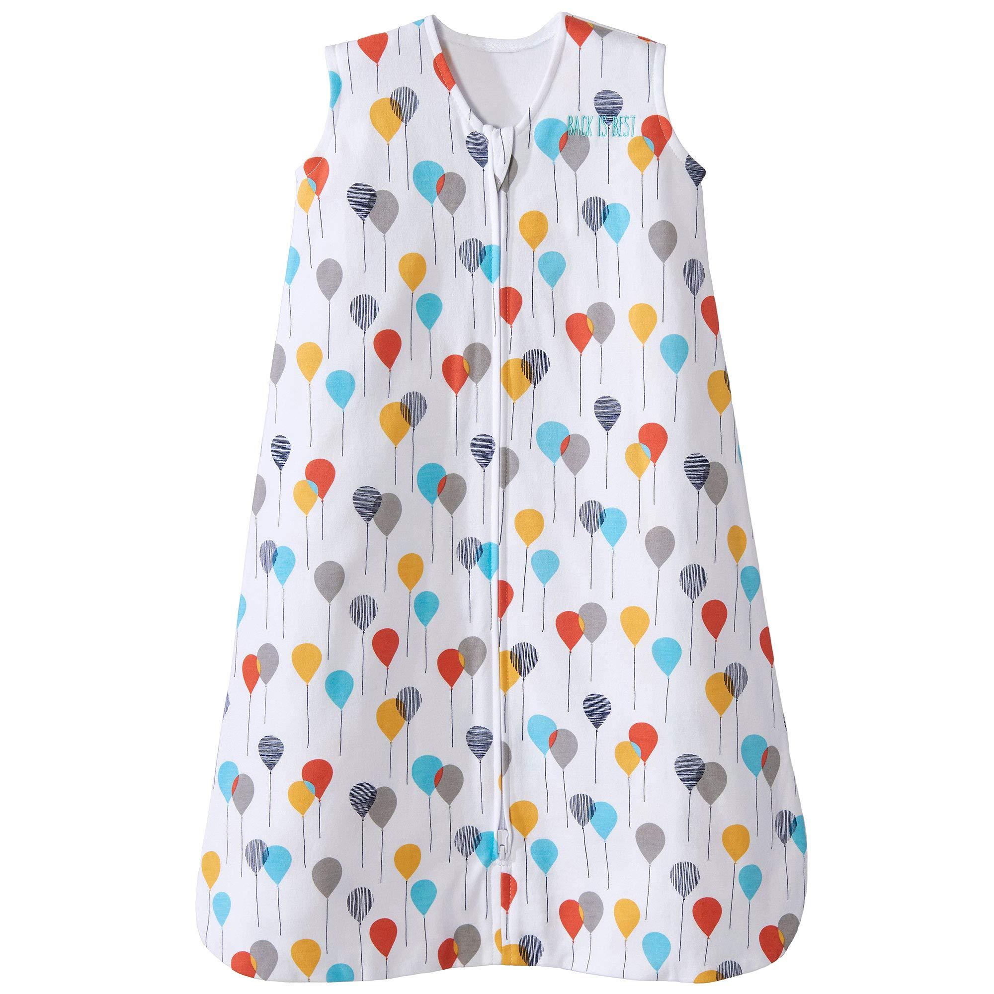 Halo Sleepsack Cotton Wearable Blanket, Neutral Balloons, X-Large