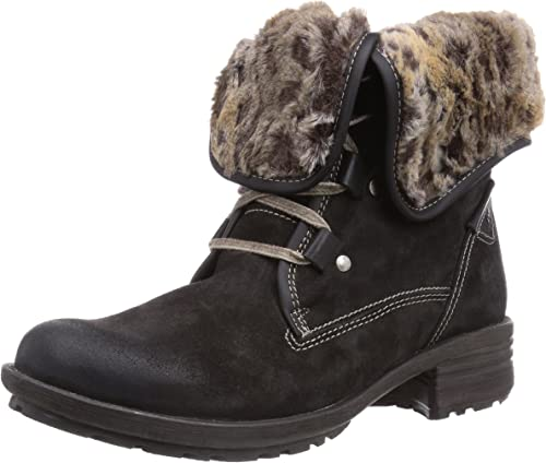 acquérir nouveaux styles bottes en cuir fourrées basses
