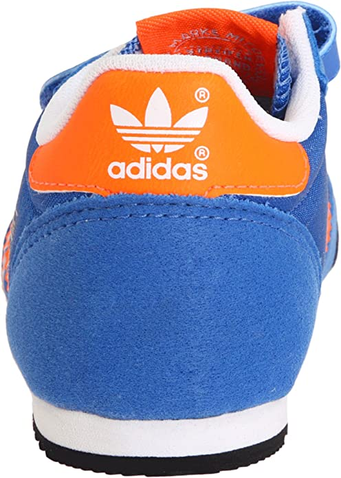 Amazon.com | adidas Originals Dragon Nylon Comfort Retro Sneaker (Infant/Toddler) (Infant/Toddler), Air Force Blue/Warning/White, 7.5 M US Toddler | ...