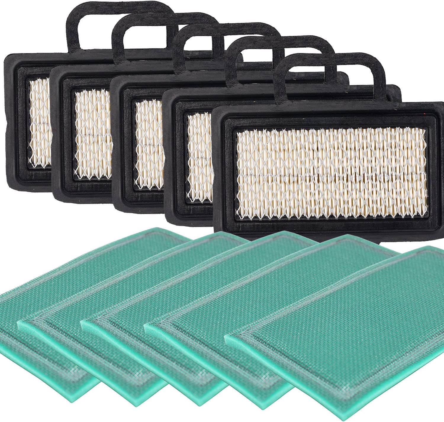Pack of 1 OxoxO Flat Air Filter Pre Filter for Briggs /& Stratton 792101 273638S 672772 671231 5408 5408H 273238 Replacement fits Intek V-Twin engines 16-27 HP