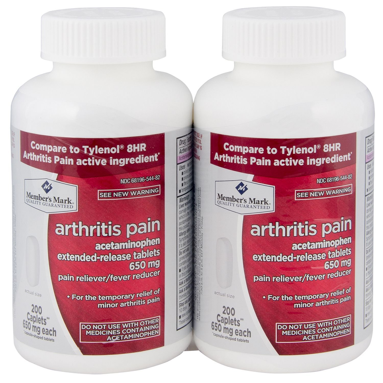 Member's Mark 650 mg Arthritis Pain Tablets (200 ct., 2 pk.) (pack of 6) by Members Mark