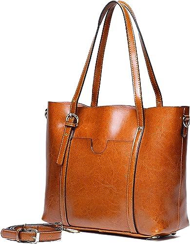 braun Tragetasche Bag Damen Handtasche Schultertasche