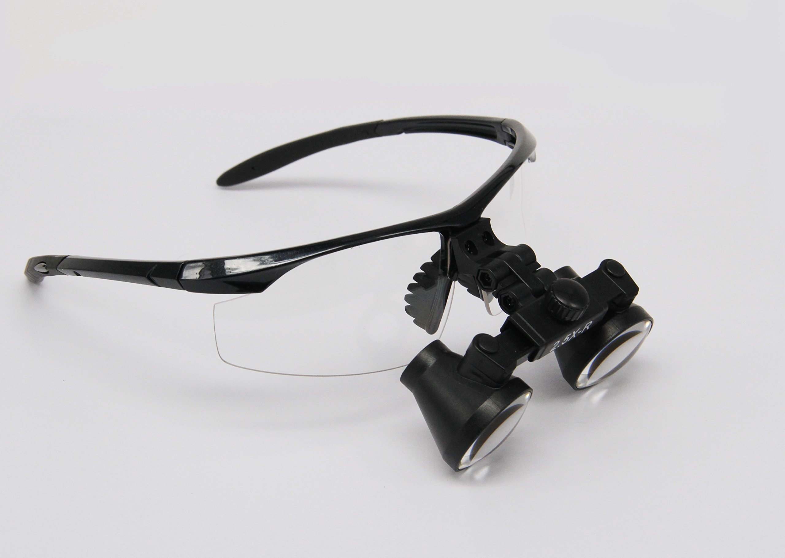 Ymarda Optics most popular 2.5X Binocular Loupes Surgical Loupes (Black frame 2.5x Magnifier with different working distances) (R (360-460mm) with Black frame)