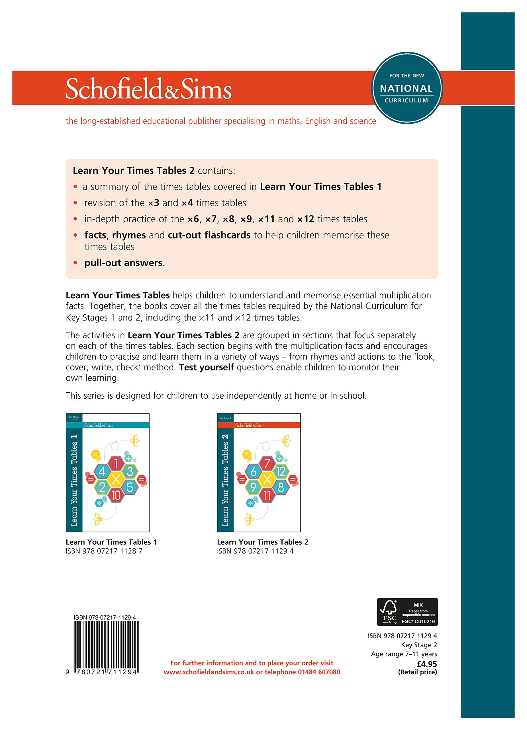Learn your times tables 2 ks2 maths ages 7 11 amazon learn your times tables 2 ks2 maths ages 7 11 amazon schofield sims steve mills hilary koll 9780721711294 books gamestrikefo Choice Image