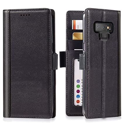 reputable site feb5f 1288e iPulse Galaxy Note 9 Wallet Case Leather Journal Series Italian Full Grain  Leather Handmade Flip Case for Samsung Galaxy Note 9 with Magnetic Closure  ...