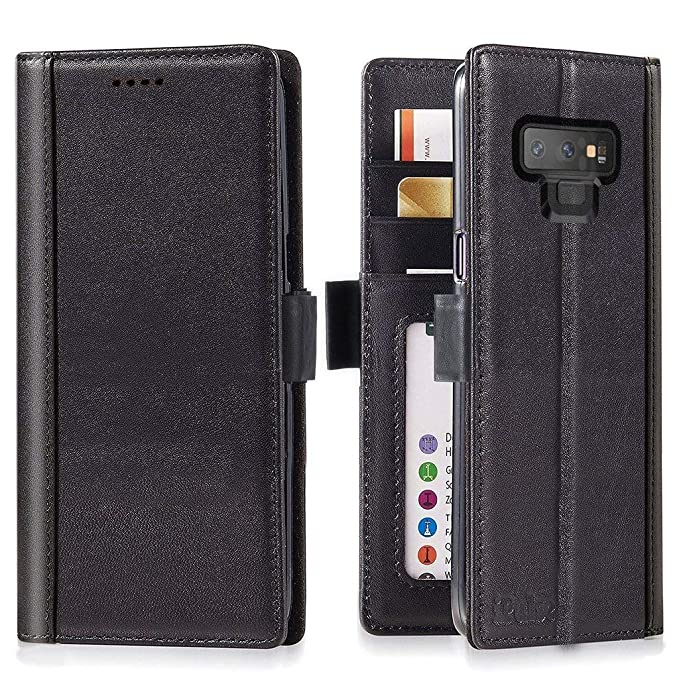 reputable site 8148e 86d3f iPulse Galaxy Note 9 Wallet Case Leather Journal Series Italian Full Grain  Leather Handmade Flip Case for Samsung Galaxy Note 9 with Magnetic Closure  ...