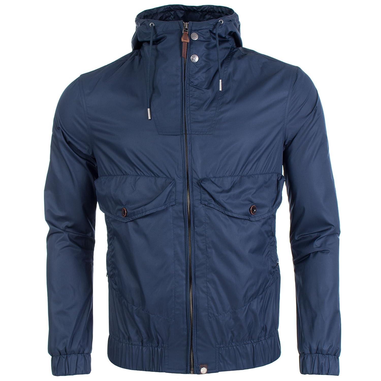 f01f3ac2bc4 Pretty Green Men's Zip Through Hooded Jacket Navy (XLarge): Amazon ...