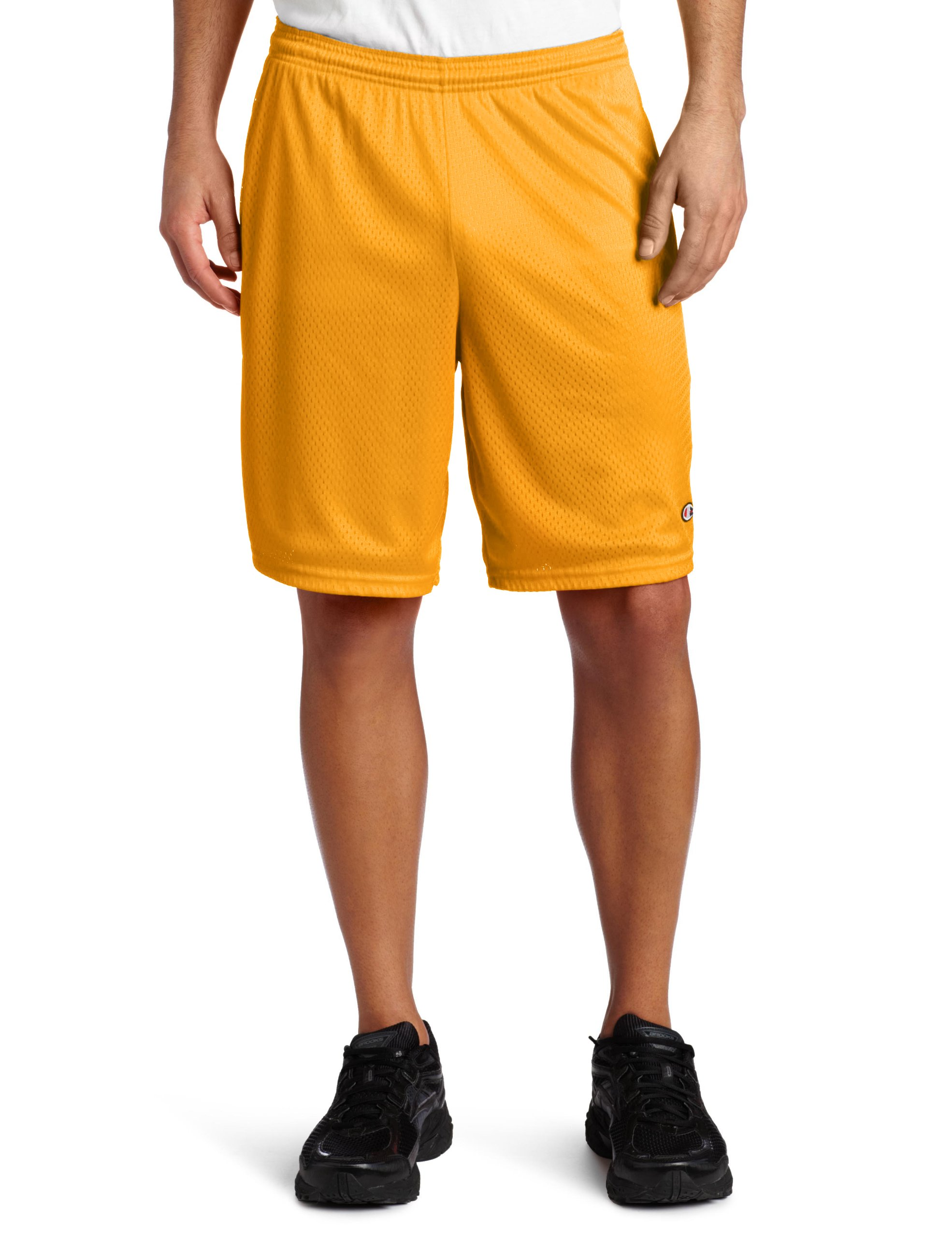 Champion Men's Long Mesh Short With Pockets, Sun Gold, Large by Champion