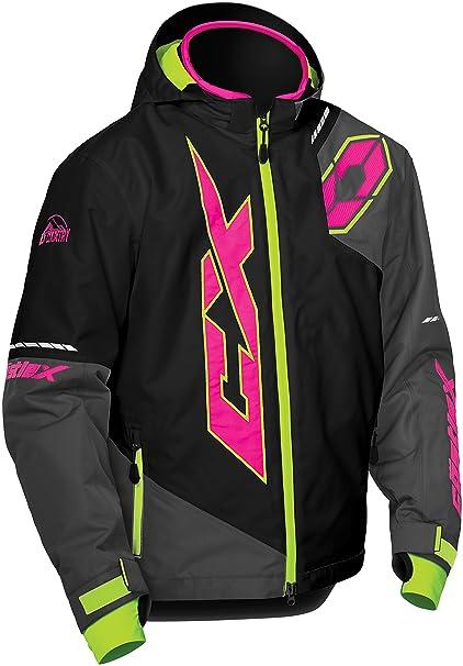 362d12e5e Amazon.com  Castle X Stance Youth Snowmobile Jacket - Black Pink Glo ...