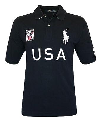 Polo Ralph Lauren Men\u0027s Big \u0026 Tall Mesh Cotton Pony Shirt Top COUNTRY USA  (2LT