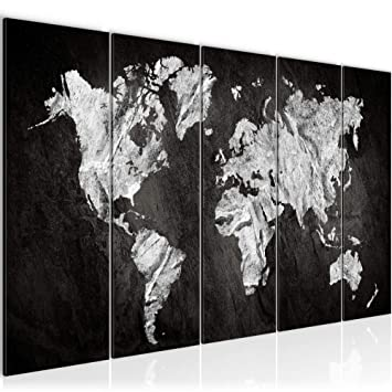 Bilder Weltkarte 200 x 80 cm Bild World Map Wandbild Vlies ...