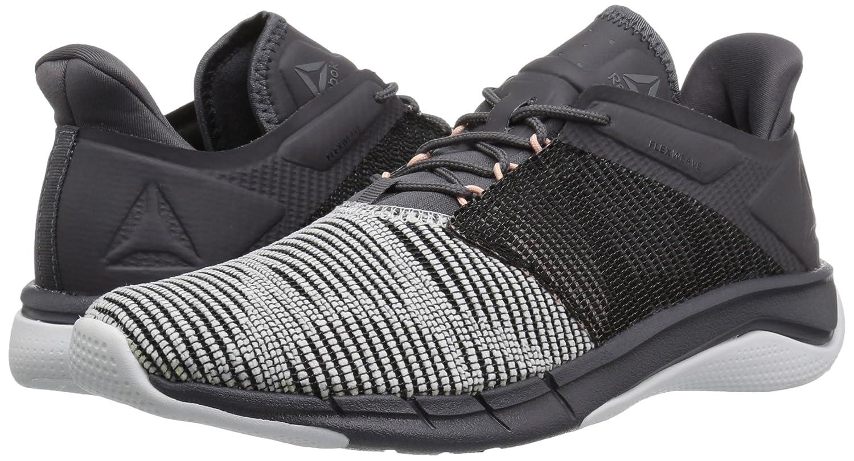 Reebok Women's Fast Flexweave Running Shoe B0742PW7L2 6 B(M) US|White/Ash Grey/Black/Desert Dust