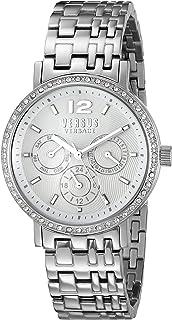 Versus by Versace Womens SOR110015 MANHASSET Analog Display Quartz Silver Watch