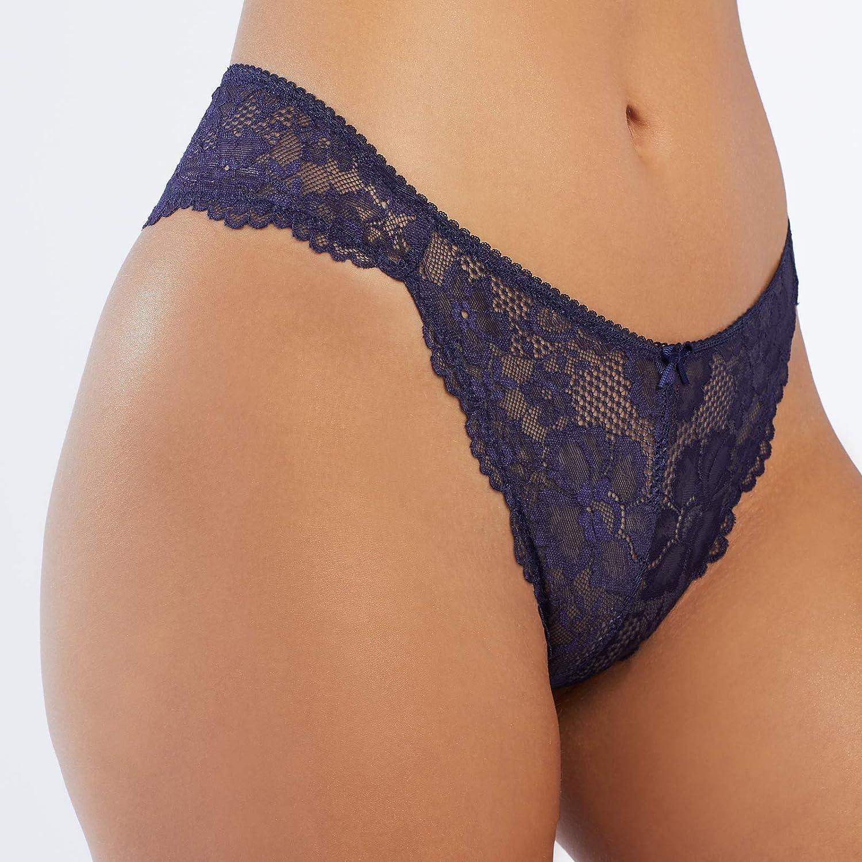 Bragas para Mujer Savage X Fenty Floral Lace High-Leg Brazilian