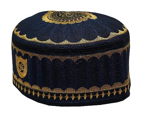 334acf4ea72 Alwee ALW001 Men s Muslim Prayer Kufi Hat Skull Cap Islam takke Praying  Beanie at Amazon Men s Clothing store