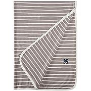 KicKee Pants Swaddling Blanket, Feather/Natural Stripe