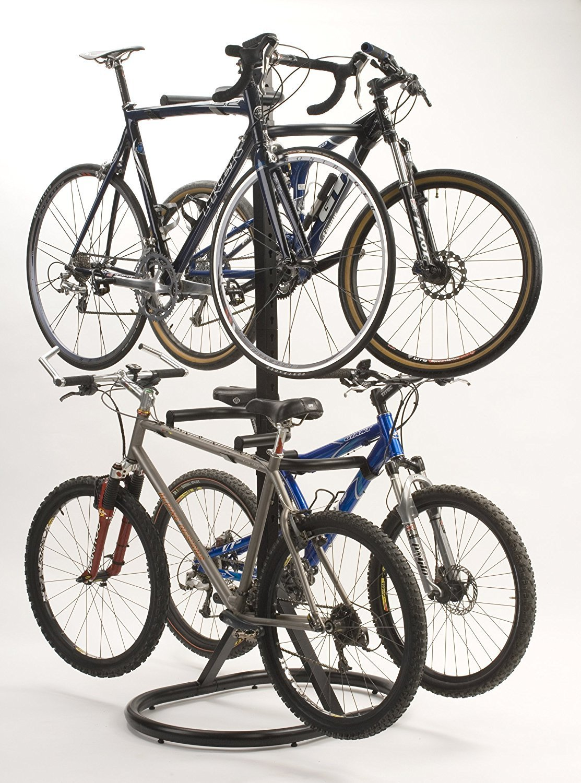 CyclingDeal 4 Bikes Hanger Parking Rack Floor Freestanding Stand
