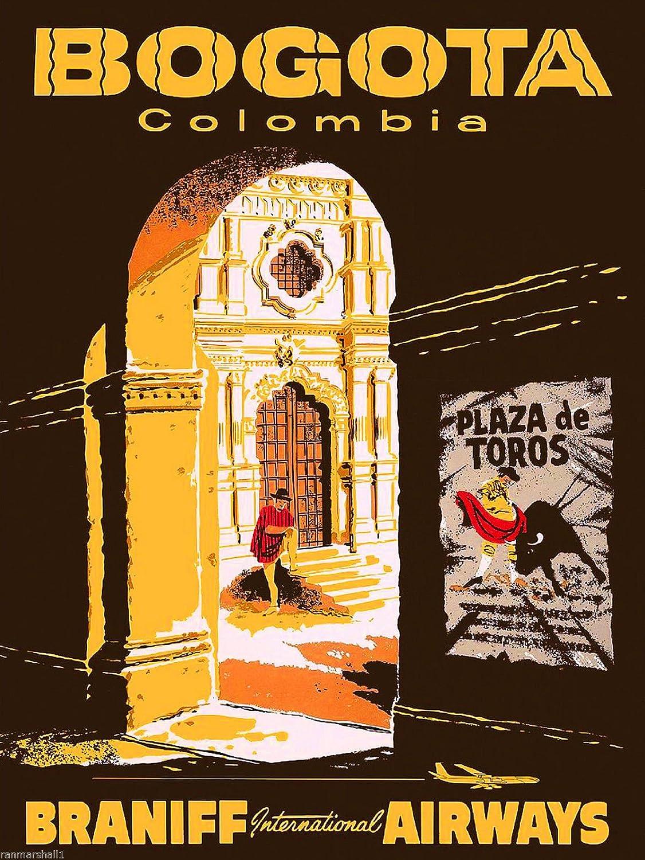 Amazon.com: Bogota Colombia South America American Vintage Travel ...