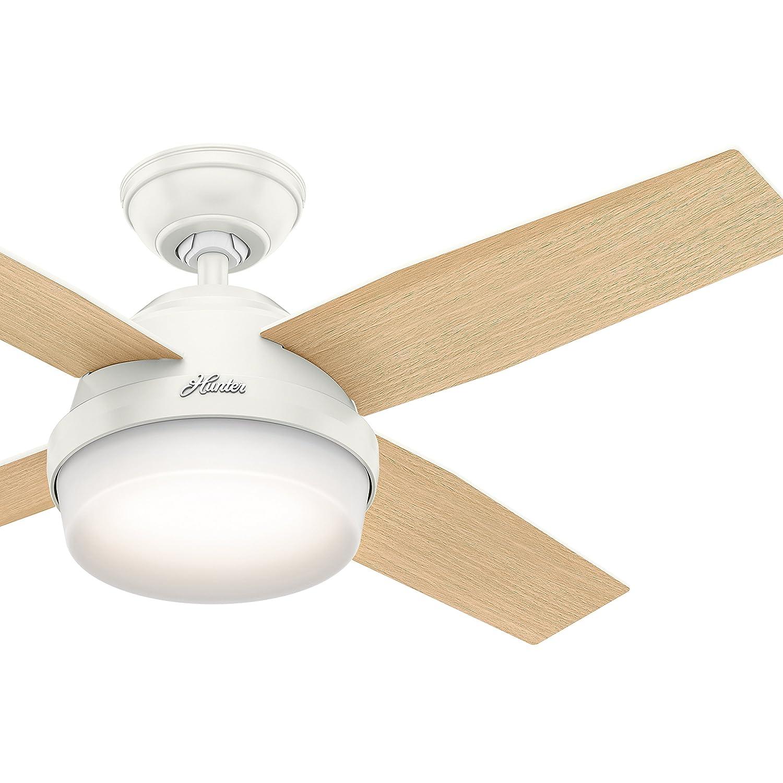 ハンターファン44で。Contemporary天井ファンwith LEDライトキットとリモートコントロールIncluded (認定Refurbished )   B076QH9FCS