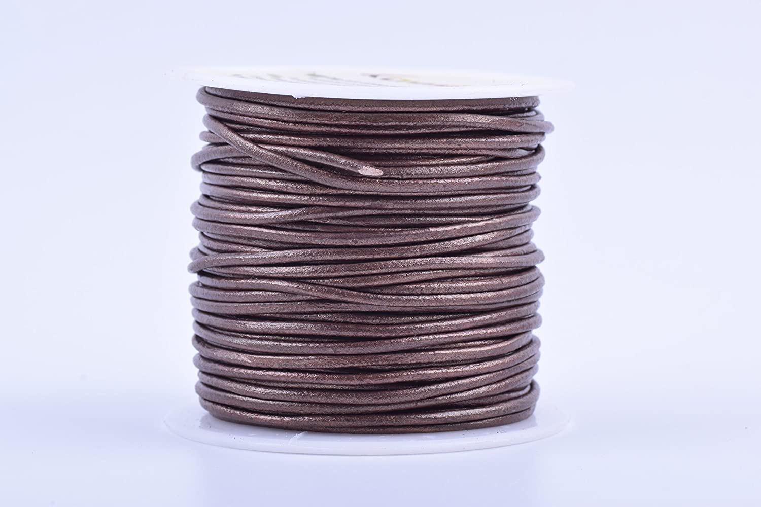 2.0mm, Pink KONMAY 25 Yards Solid Round 2.0mm Pink Genuine//Real Leather Cord Braiding String
