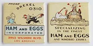 Ham & Eggs Fridge Magnet Set (2 x 2 inches each)