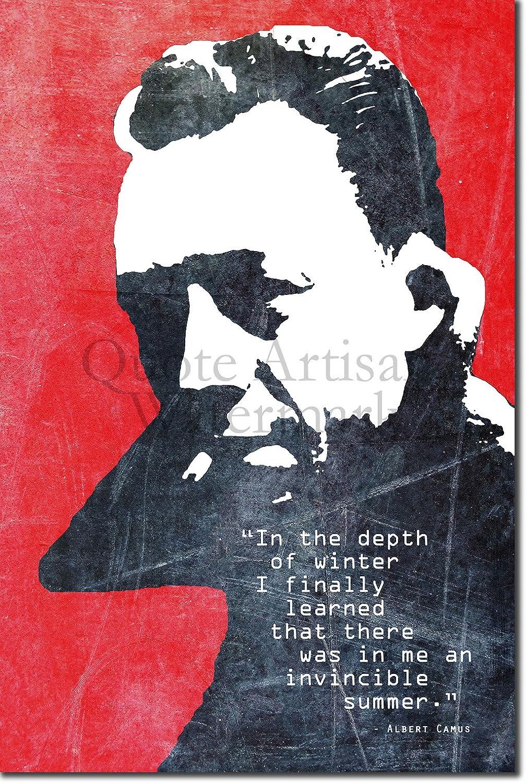 12x8 Photo Poster Print Albert Camus Quote INVINCIBLE SUMMER