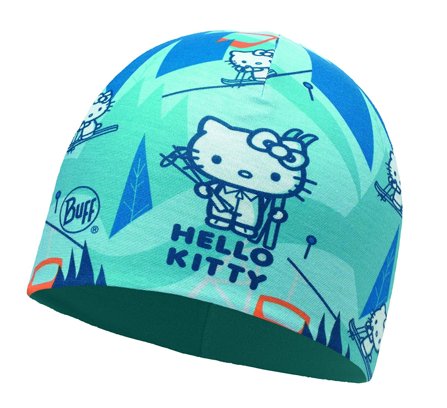 Buff Kids Microfiber & Polar Hat Hello Kity Ski Day Turquoise