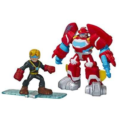 Playskool Heroes Transformers Rescue Bots Heatwave The Fire-Bot and Cody Burns Figure Pack: Toys & Games
