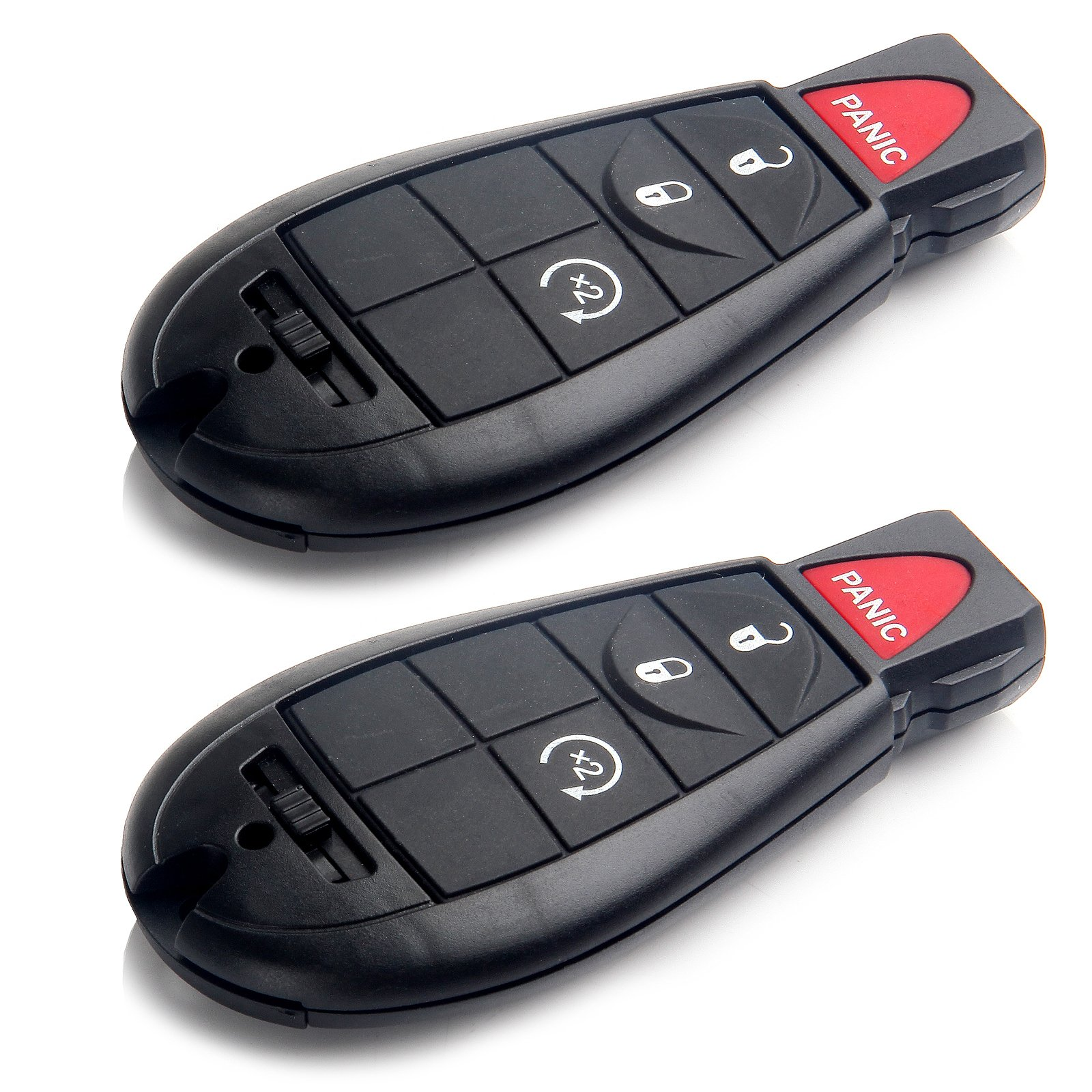 SCITOO 2X 4 Button Uncut Keyless Entry Option Replacement fit for Chrysler 300 Town & Country Dodge ChallengerDurango Grand Caravan Journey Jeep Commander Volkswagen Routan M3N5WY783X, IYZ-C01C