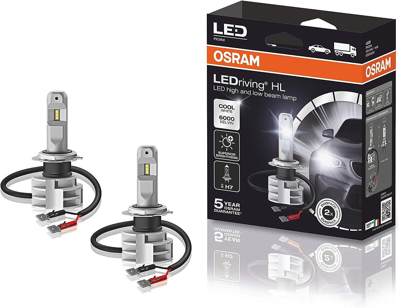 KIT LEDriving H7 Cool White, Luces Led Para Coche, Luces Carretera y Cruce. 6000K PX26d