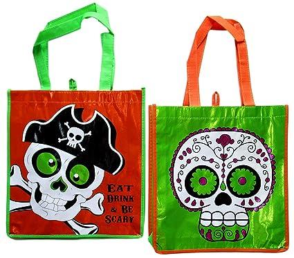 Amazon.com: Trick Treat Bags – Juego de 2 bolsas de azúcar ...