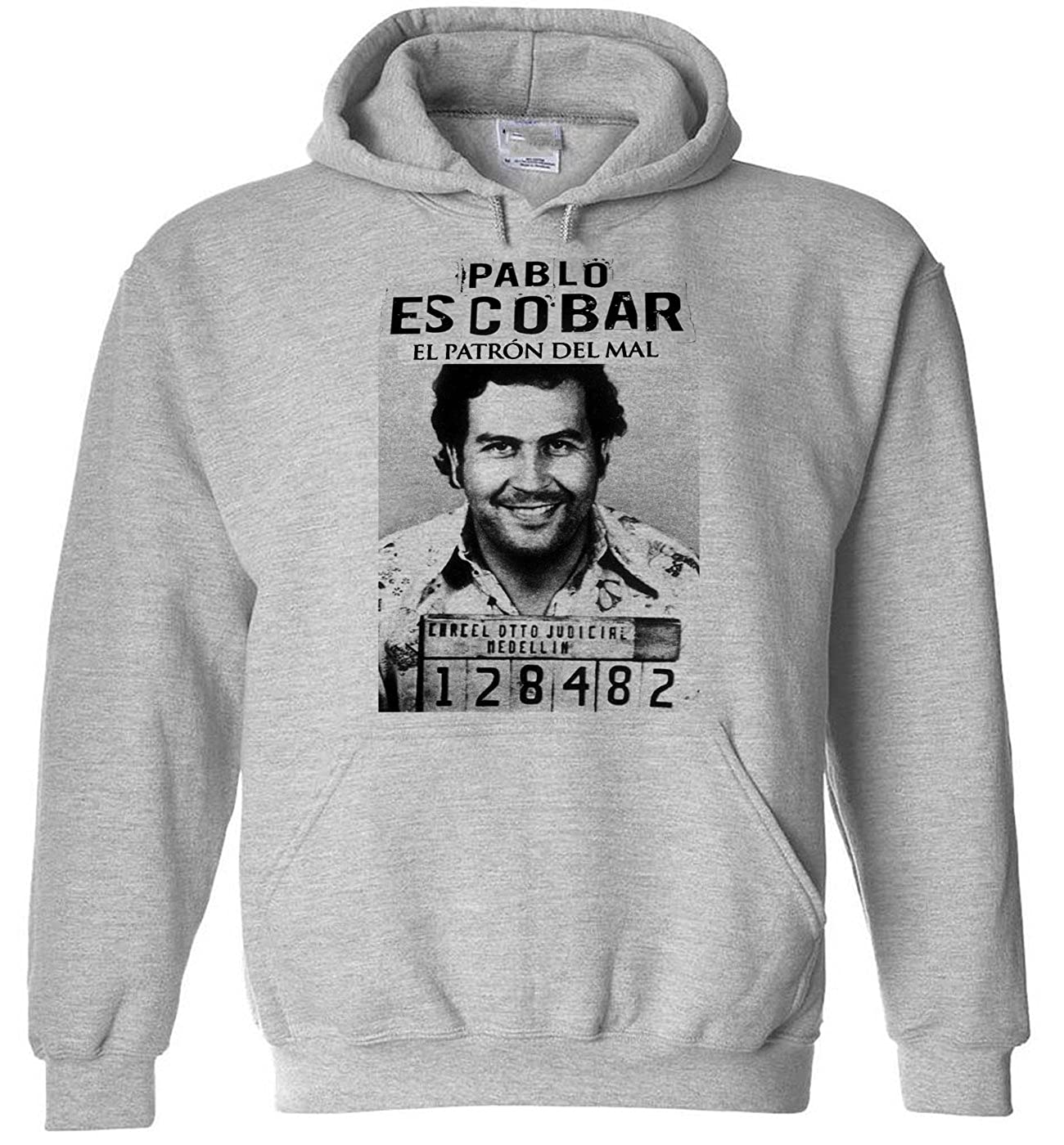 Amazon.com: Rancid Nation Pablo Escobar Hoodie Medellin ...