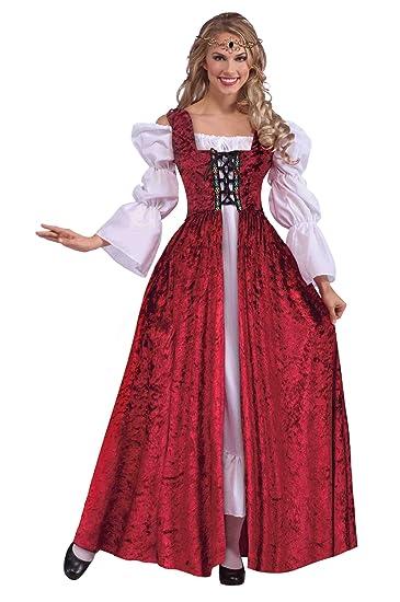 Amazon.com  Forum Novelties Women s Medieval Lace-Up Costume Gown ... 1a8b530d6156