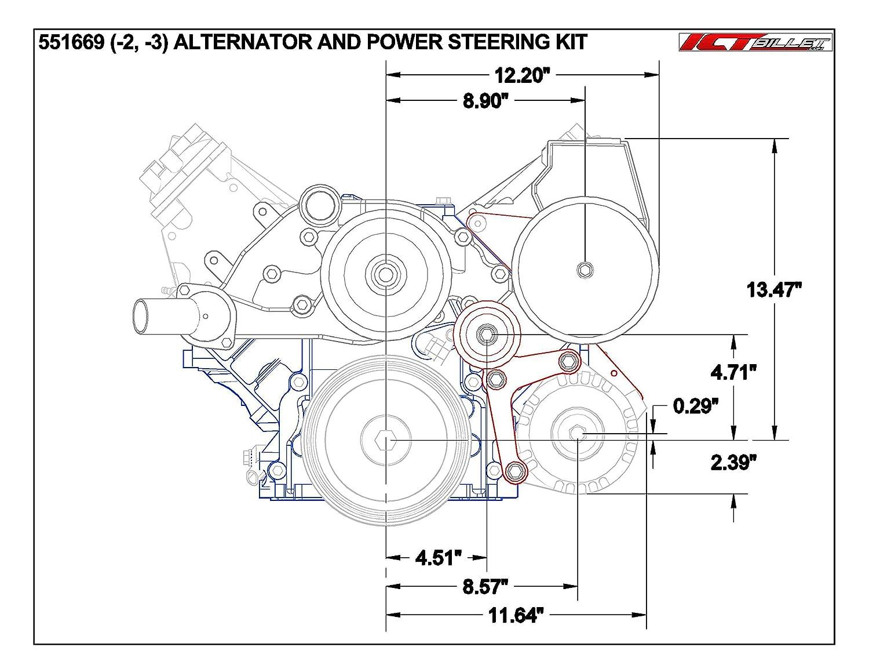 Ls Camaro Alternator Bracket Low Mount And Power Remote Battery Amp Wiring Team Tech Steering Pump Lsx Ls1 Ls6 Billet 551669 2 Automotive