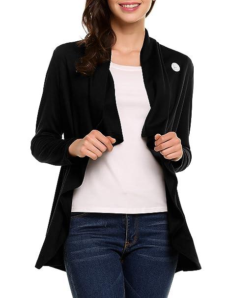 Amazon.com: Meaneor mangas largas un botón de la mujer ...
