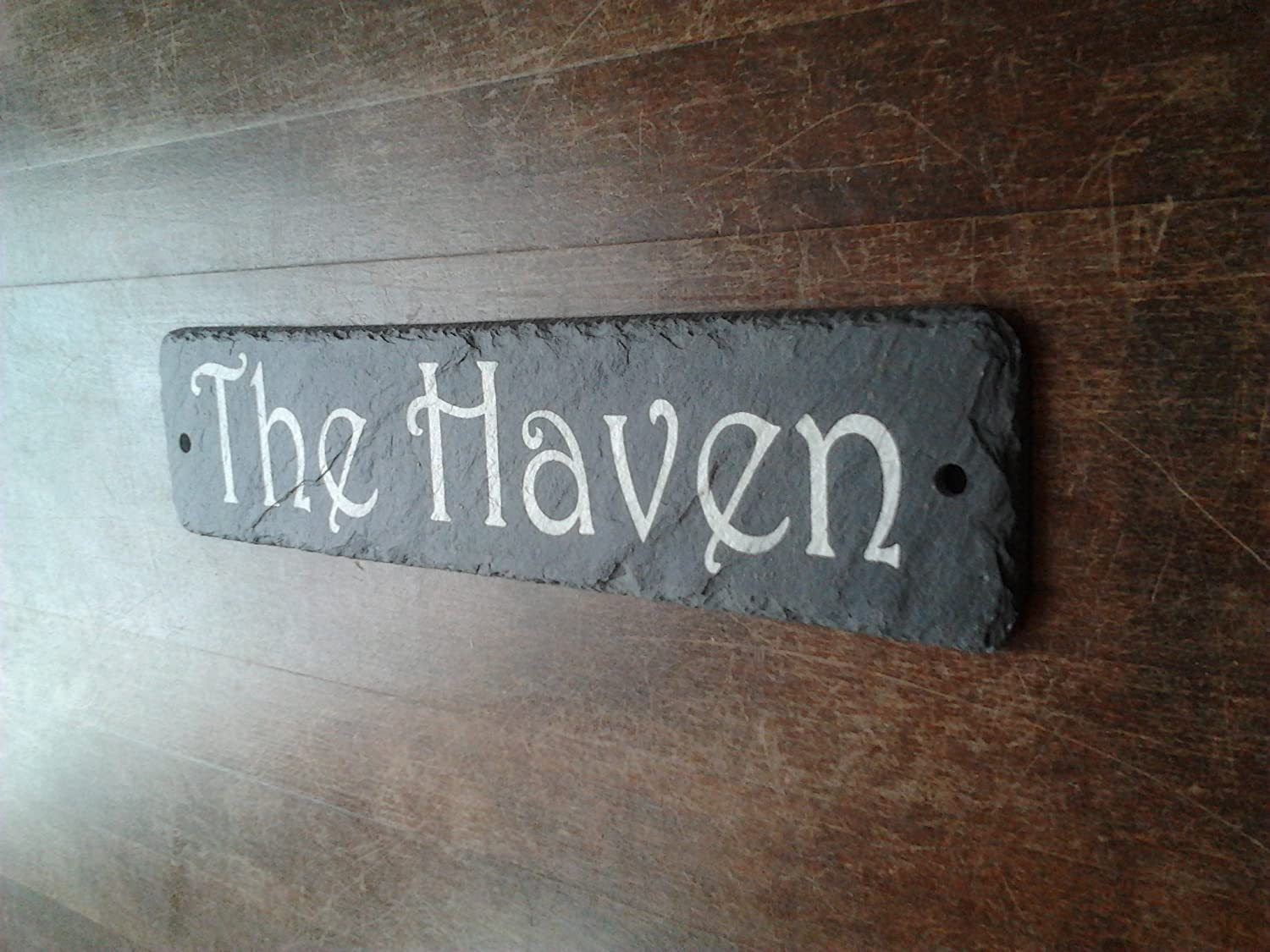Beautiful Natural Slate House Sign 30cm x 10cm Traditional Rustic Finish 1st 4 Signs Ltd