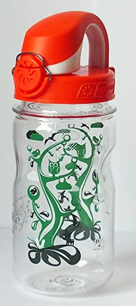 Nalgene Everyday – Botella Infantil, con tecnología OTF, Transparent mit Deckel Orange-Weiss