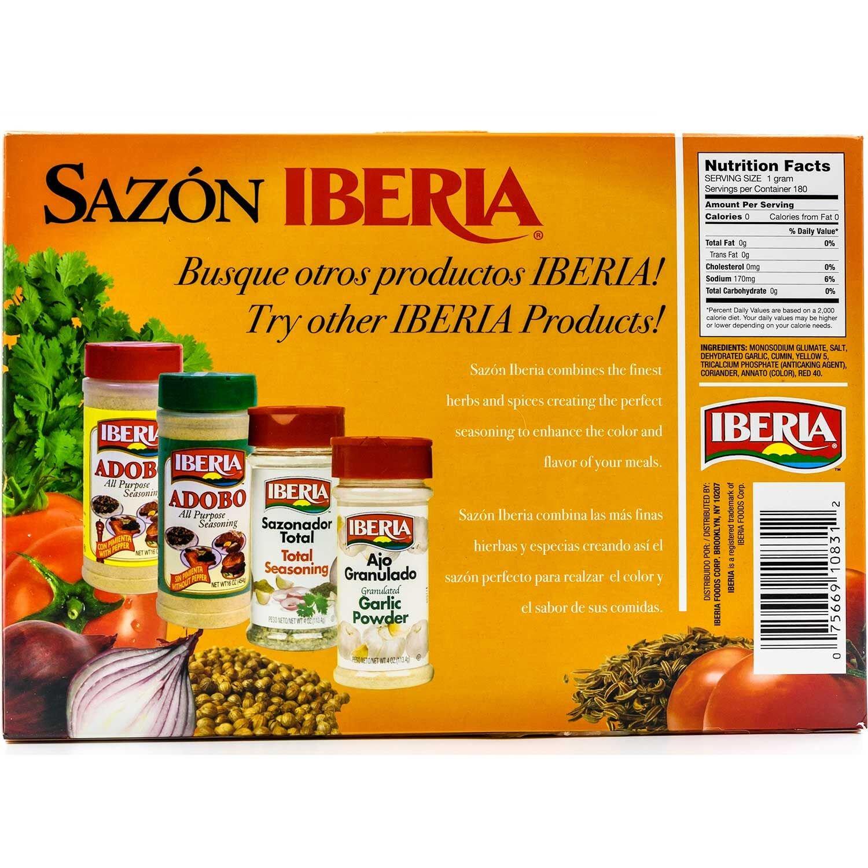 Sazon Iberia Jumbo Pack with Coriander and Achiote 6.34 Oz 36 Packs by Iberia (Image #2)