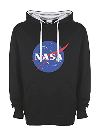 Amazon.com: NASA Space Astronaut Logo Retro Scientist Meatball Geek Big Bang Theory Gift Unisex Top Quality Contrast Hoodie: Clothing