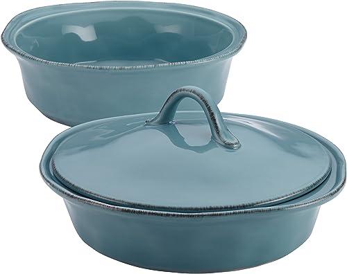 Rachael Ray 58314 Cucina Casserole Dish Set (Agave Blue)